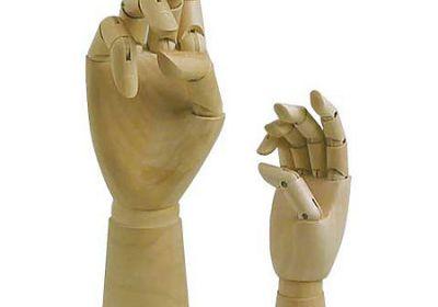 Articulated Wooden Hands, 12