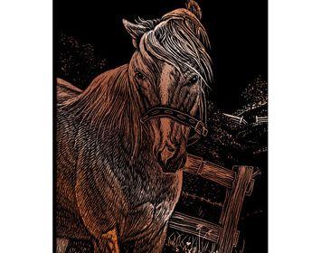 Engrave Art Mini Copper horse