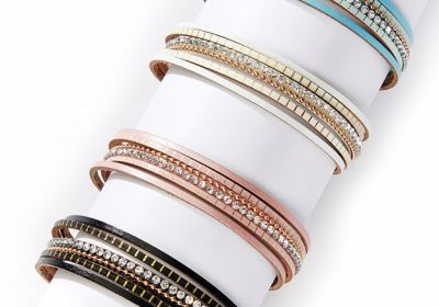 Multi-Strand Rhinestone Bracelet
