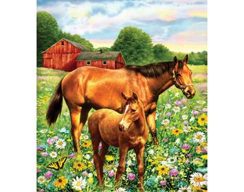 R&L Paint by Number Jr. Horses in Field