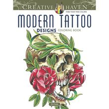 Creative Haven Modern Tattoo coloring book