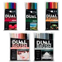 Tombo Dual Brush Pen 10 Set Primary