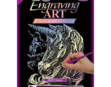 R&L engraving unicorn