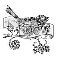 Bird with Flowers Stencil