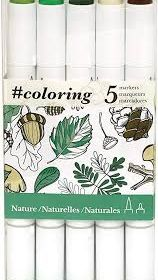 #Coloring Nature Marker Set 5