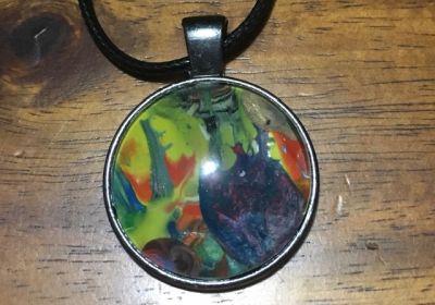 Acrylic Pour Necklace-24