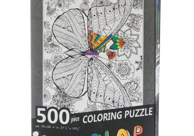 500 PC Coloring Puzzle Butterfly