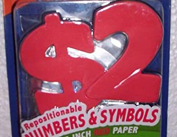 Elmer's Project Popperz Numbers & Symbols Red Paper