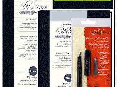 Writing 3/PC Journal & Calligraphy Set Bundle Pack