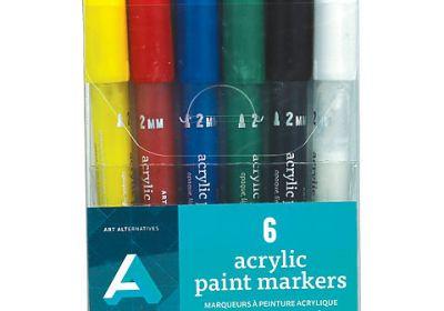 AA Acrylic Paint Marker Set 6