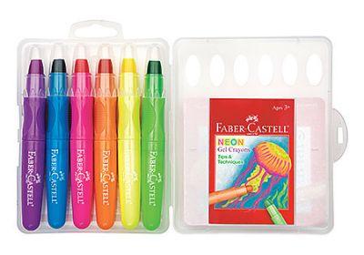 Gel Crayons Sets, 6-Color Neon Set