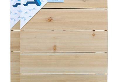 Creative Surface 16 x 20 White Wash Wood Panel