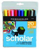 Scholar Prismacolor 20 brush tip markers