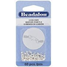 Cord End 2.7 mm 5pc Silver