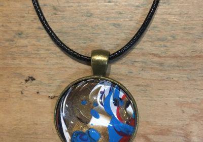 Acrylic Pour Necklace-29