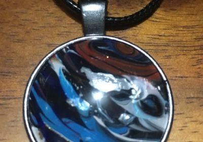 Acrylic Pour Necklace-16