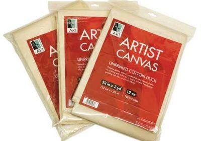 Unprimed Cotton Canvas Folds, 5 oz. - 62