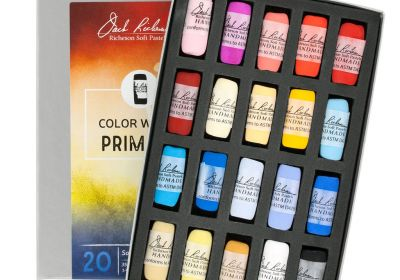 JR Hand rolled Pastel set 20 Color Wheel Primary