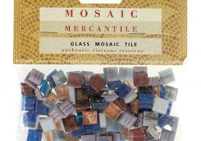 Mosaic Mercantile classic glass tiles Coal 24 count