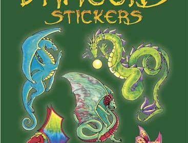 Dover Glitter Dragons Stickers Book Little Butterflies