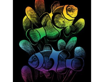 R&L Engraving Art Rainbow Clown fish