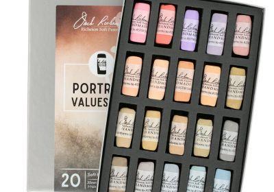 JR Hand rolled Pastel Port. Values 6-8 20 set