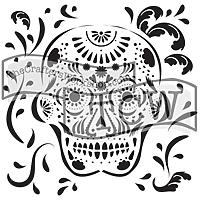 6 x 6  Stencil Mini Mexican Skull