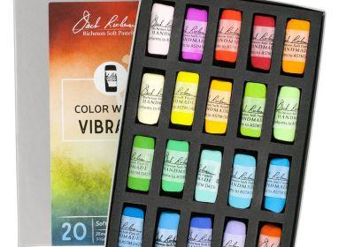 JR Hand rolled Pastel set 20 Color Wheel Vibrant