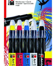 Marabou Art crayon 5 piece set primary
