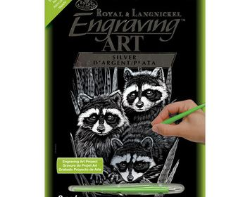 R&L Engraving Art Holographic Racoons